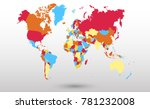 color world map vector | Shutterstock .eps vector #781232008