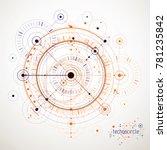 mechanical scheme  engineering... | Shutterstock . vector #781235842