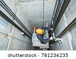 lift machinist repairing... | Shutterstock . vector #781236235