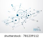 engineering technology... | Shutterstock . vector #781239112