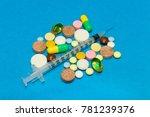 opioid epidemic .opioid pills.... | Shutterstock . vector #781239376