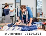 couple of fashion designers... | Shutterstock . vector #781241515