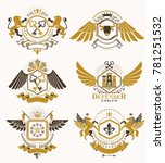set of luxury heraldic... | Shutterstock . vector #781251532