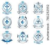 vintage decorative heraldic... | Shutterstock . vector #781252552