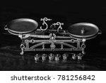 old fashioned retro metallized... | Shutterstock . vector #781256842