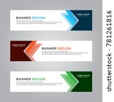 abstract banner background... | Shutterstock .eps vector #781261816