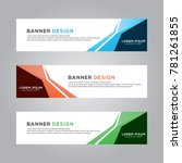 abstract banner background... | Shutterstock .eps vector #781261855