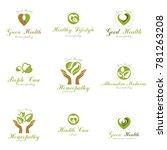 homeopathy creative symbols... | Shutterstock . vector #781263208