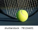 tennis ball with a racket in... | Shutterstock . vector #78126601