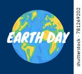 vector background for earth day ... | Shutterstock .eps vector #781269202