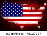 grunge textured of usa flag for ... | Shutterstock . vector #78127387