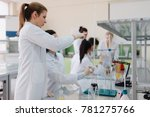 group of genetics engineering... | Shutterstock . vector #781275766