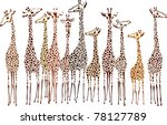 Stock vector giraffes 78127789