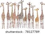 giraffes | Shutterstock .eps vector #78127789