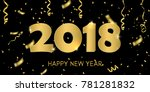 creative design of the new year'... | Shutterstock .eps vector #781281832