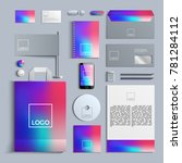 corporate identity template in... | Shutterstock .eps vector #781284112