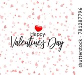 valentines day card confetti | Shutterstock .eps vector #781287796