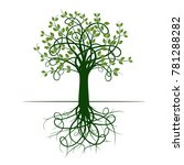 green tree with roots | Shutterstock .eps vector #781288282