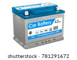 car battery closeup  3d... | Shutterstock . vector #781291672