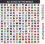 all flags of the world in... | Shutterstock .eps vector #781292512