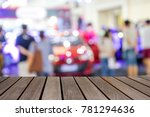 blurred image wood table on... | Shutterstock . vector #781294636