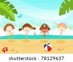 summer kids | Shutterstock . vector #78129637
