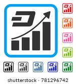 dash growth trend icon. flat... | Shutterstock .eps vector #781296742