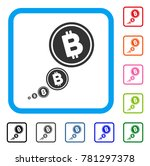 bitcoin inflation icon. flat...