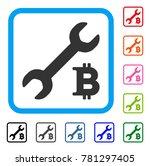 bitcoin repair cost icon. flat...