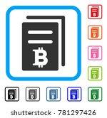 bitcoin price copy icon. flat... | Shutterstock .eps vector #781297426