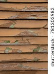 wooden old brown blind with...   Shutterstock . vector #781302982