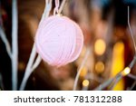 christmas background   baubles... | Shutterstock . vector #781312288