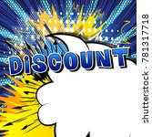 discount   comic book style... | Shutterstock .eps vector #781317718