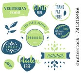fresh  organic  gluten free ... | Shutterstock .eps vector #781318486