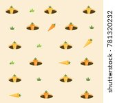 cute carrot pattern background... | Shutterstock .eps vector #781320232