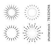 vintage sunburst design element   Shutterstock .eps vector #781324246