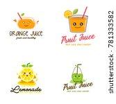 fruit juice logo vector | Shutterstock .eps vector #781333582