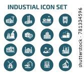 industrial icon set vector | Shutterstock .eps vector #781334596