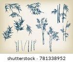 bamboo vector design elements... | Shutterstock .eps vector #781338952