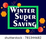 nice and beautiful sale... | Shutterstock .eps vector #781344682