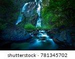 klong lan water falls national... | Shutterstock . vector #781345702