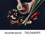 the art of thai cuisine   thai... | Shutterstock . vector #781346095