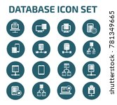 database icon set vector | Shutterstock .eps vector #781349665