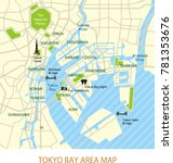 tokyo bay area map  english
