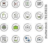 line vector icon set   passport ... | Shutterstock .eps vector #781358236