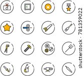 line vector icon set  ... | Shutterstock .eps vector #781359022
