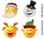 yellow face with emotions and... | Shutterstock .eps vector #781364812