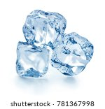 ice cubes isolated on white... | Shutterstock . vector #781367998