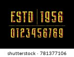 decorative numbers with... | Shutterstock .eps vector #781377106
