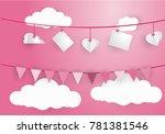 valentine's day concept.love...   Shutterstock .eps vector #781381546